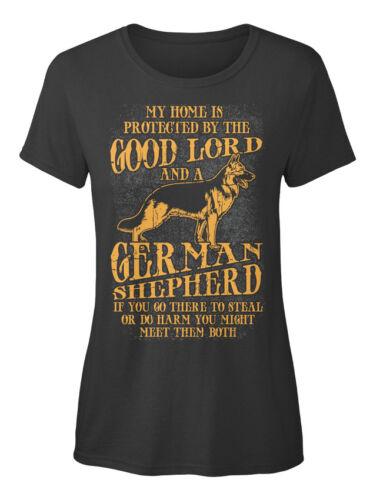 Berger allemand ma maison est MP-Protégé par la bonne Standard T-shirt femme