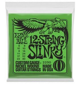 Ernie Ball 2230 Twelve String Electric Guitar 12 String Slinky 008 - 040 nickel