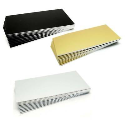 10 Plättchen Aluminium silber matt 1,0mm 100x50mm für Gravograph und Laser