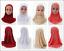Kids-Girls-Islamic-Muslim-East-Rhinestone-Hijab-Flower-Scarf-Arab-Headwear thumbnail 1