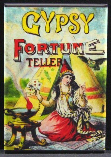 "Circus Sign 2/"" X 3/"" Fridge Locker Magnet. Gypsy Fortune Teller Carnival"