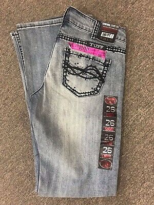 COWGIRL TUFF Don't You Dare Fence Me In Demi Crystal Black Barbed Wire Jeans NWT