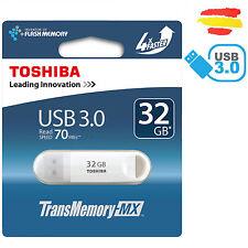 PENDRIVE 32GB TOSHIBA USB 3.0 70MB/s MEMORIA 2.0 32 GB ORIGINAL PEN DRIVE BLANCO