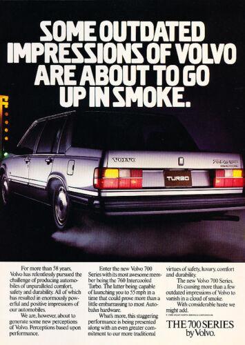 smoke Classic Vintage Advertisement Ad A71-B 1986 Volvo 760 Turbo