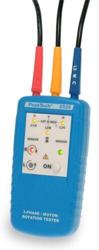 PeakTech 2525 3 fasi MOTORE-indicatori di direzione di rotazione//ROTATOR Tester
