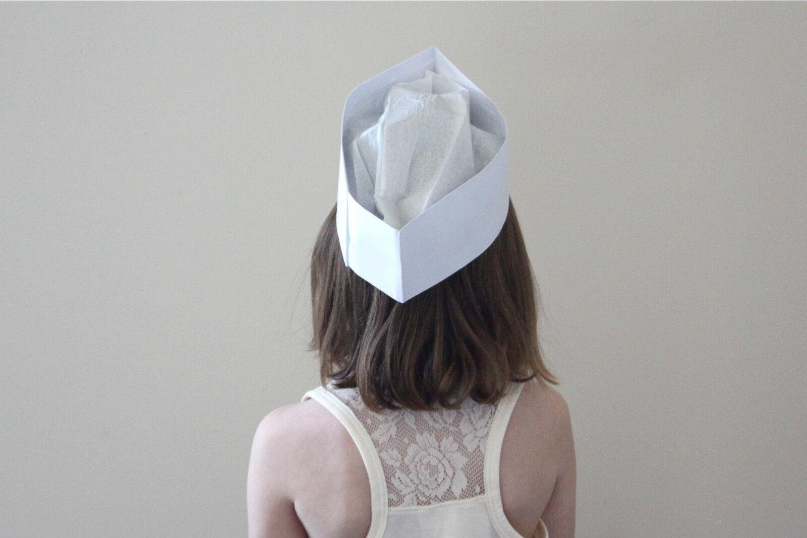 Restaurant Soda Jerk Fountain Hats Blue Strip Adjustable PACK OF 25