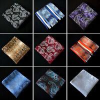 Men Fashion Paisley Floral Pocket Square Wedding Party Handkerchief Hanky