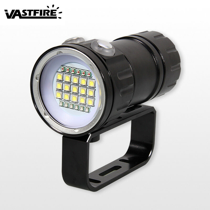 Fotografie Fotografie Fotografie Video 18LED 23LED 14LED 50000LM LED Tauche Tauchlampe Bis 100m IPX8 7dfd0a
