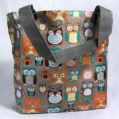 Womens Handbag Utility Tote Shopping Bag Owl Theme Free Shipping fg0114