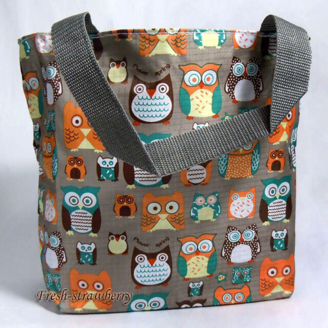 Womens Handbag Utility Tote Shopping Bag Owl Theme Free Shipping fg0114