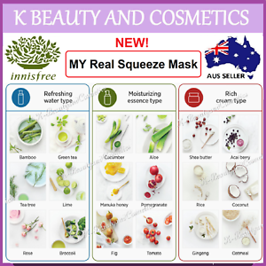INNISFREE-My-Real-Squeeze-Mask-Sheet-1-5-10-18-pieces-18-types-NEW-2019