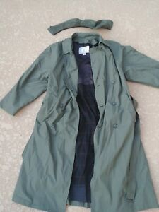 London Fog Men S Trench Coat Limited Edition Belted Size 42r Olive Green Ebay