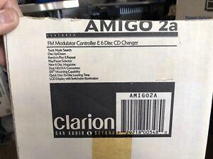New-Old-School-Clarion-Amigo-2a-6-Disk-CD-Changer-And-Controller-RARE-NIB-NOS