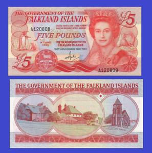 Falkland Islands 5 pound 1983 UNC Reproduction