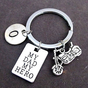 My Dad My Hero Personalized Dad Keychainfathers Day Giftgrandpa
