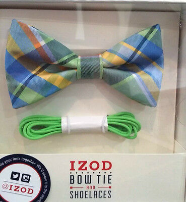 IZOD Men's Bow Tie and Shoe Laces Set Your Pick Free S&H