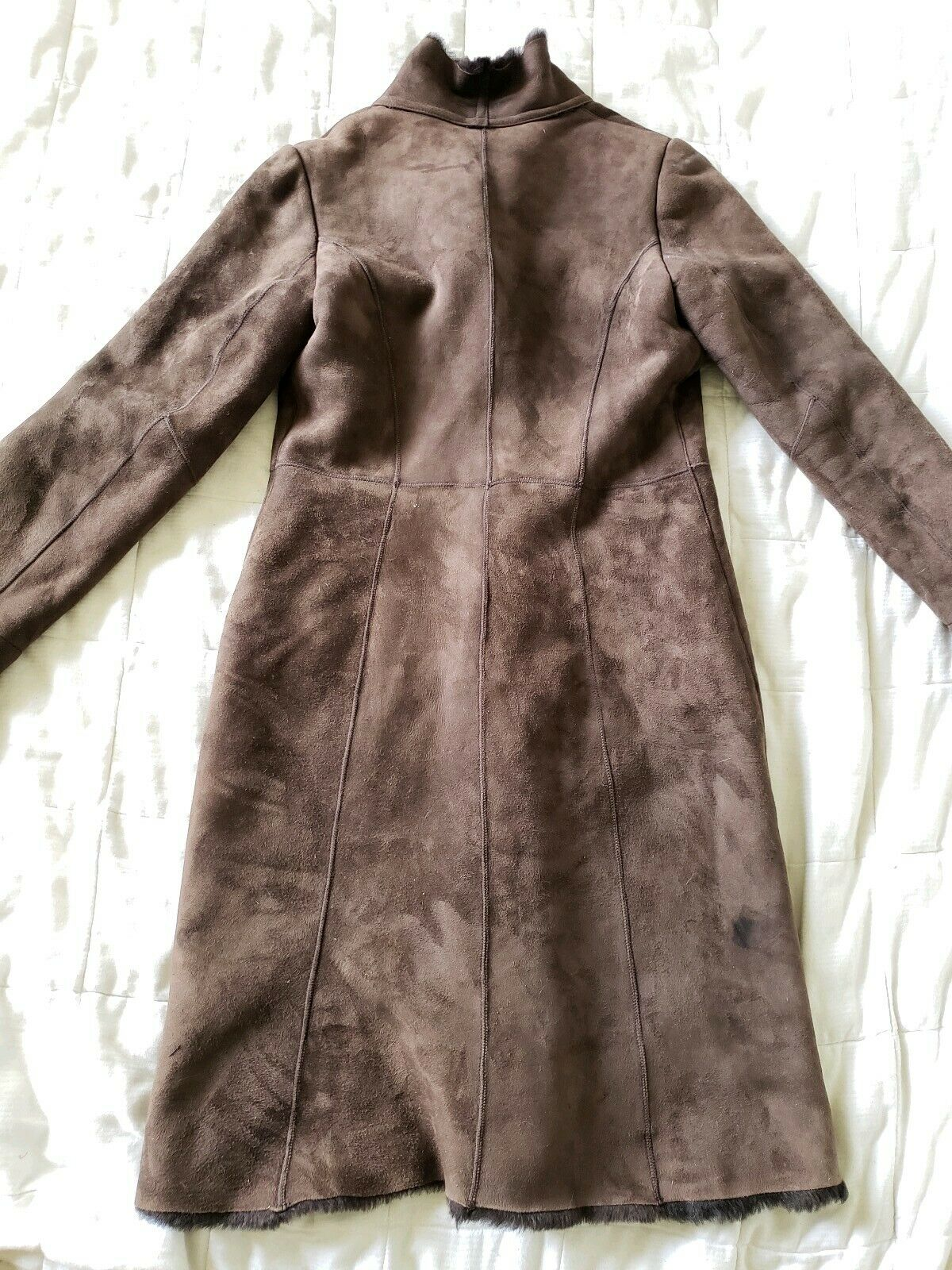 The Limited genuine full length shearling coat sl… - image 5
