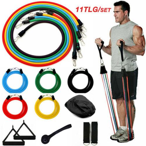 Expander Set Fitnessbänder Gymnastikband Übungsband Latexband Yoga Tube