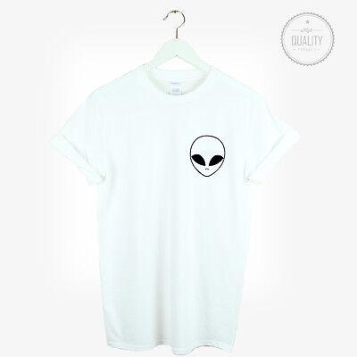 ALIEN POCKET T SHIRT UFO HIPSTER HATE LOVE SWAG BLOGGER TUMBLR FASHION - alien