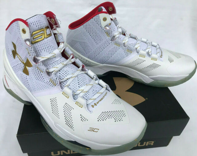 curry 2 white and gold