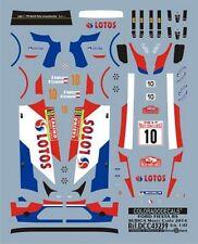 DECALS 1/43 FORD FIESTA RS WRC #10 KUBICA - MONTE CARLO 2014 - COLORADO 43239