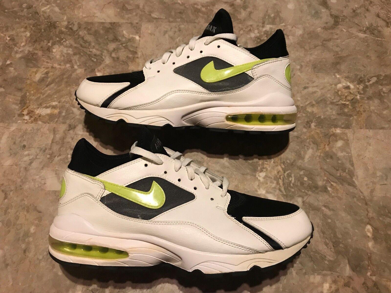 RARE 2006 Nike Air Max 93 AM93 History Of Air White Volt Size 10.5 (314288-991)