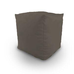 En Coton Gris Rempli Poire Cube Pied Tabouret Pouffe Siège Reste étudiant Meuble-afficher Le Titre D'origine