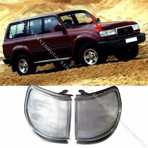 2x For Toyota Land Cruiser FJZ80 LC80 1991-1997 Front Corner Lamp Light no Bulb