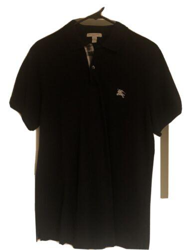 Burberry Brit Mens Polo Shirt Black Short Sleeve L