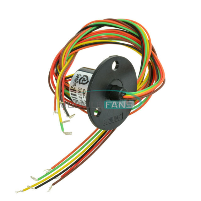 300Rpm Capsule Slip Ring 6 Circuits Wires 22mm 2A AC 240V Test Equipment New