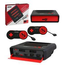 Retro Bit Super RetroTrio 3in1 Nintendo SNES/NES/Sega Genesis Console Black/Red