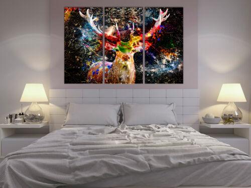 HIRSCH Wandbilder xxl Bilder auf Vlies Leinwand Leinwandbilder g-A-0271-b-e