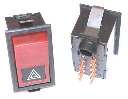 8-Pin hazard switch Warnblinkschalter Kippschalter pf.Volvo F6-F7-F10-F12-N10
