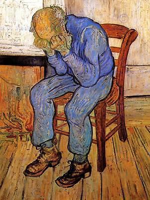 GOGH OLD MAN IN SORROW ON THRESHOLD ETERNITY 1890 ART PRINT 12x16 inch 2852OM