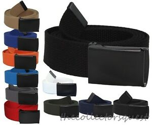 JAEGER-CUSTOMS-URBAN-STRAPS-Black-Flip-Top-Buckle-Canvas-Military-Web-Golf-Belt