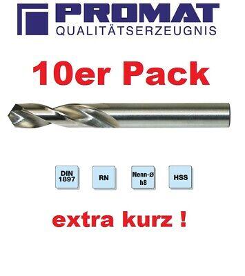 10x PROMAT Spiralbohrer DIN338 Typ N D.8,5mm HSS profilgeschliffen