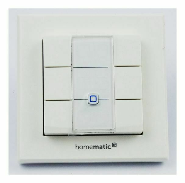 Homematic IP Wandtaster, 6-fach fuer Smart Home / Hausautomation