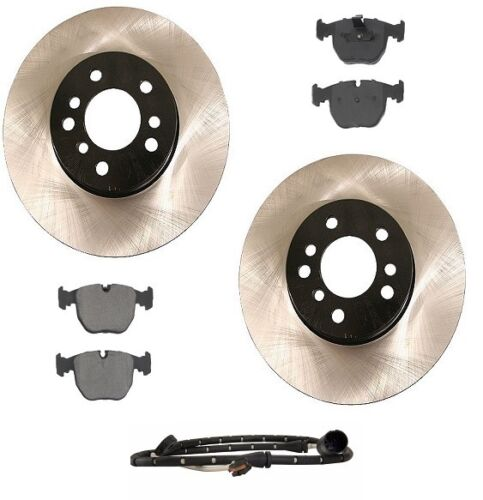 For BMW E53 X5 00-06 4.4L Front Brake Kit w// Rotors Ceramic Pads /& Sensor