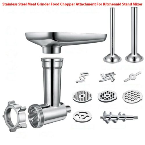 1 set Steel Kitchen Meat Grinder Sausage Filling Attachment Fit For KitchenAid