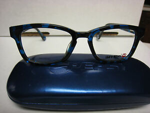 HOT-KISS-EYEGLASS-FRAMES-Style-HK44-in-BLUE-GREEN-45-17-130-with-Pepsi-case