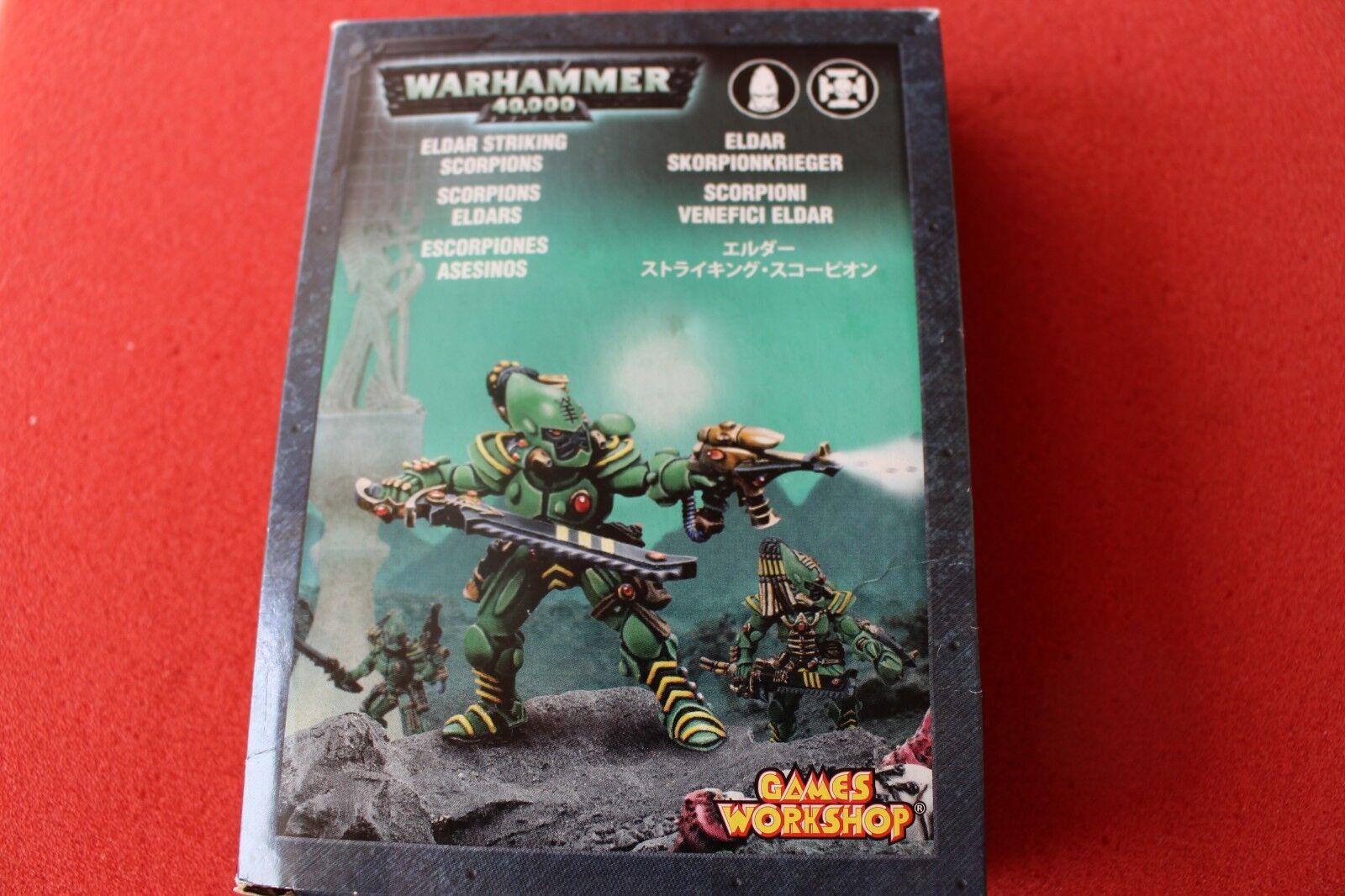 giocos lavoronegozio  WARHAMMER 40k Eldar sorprendente SCORPIONI squadra in mettuttio in scatola GW fuori catalogo  fornire un prodotto di qualità