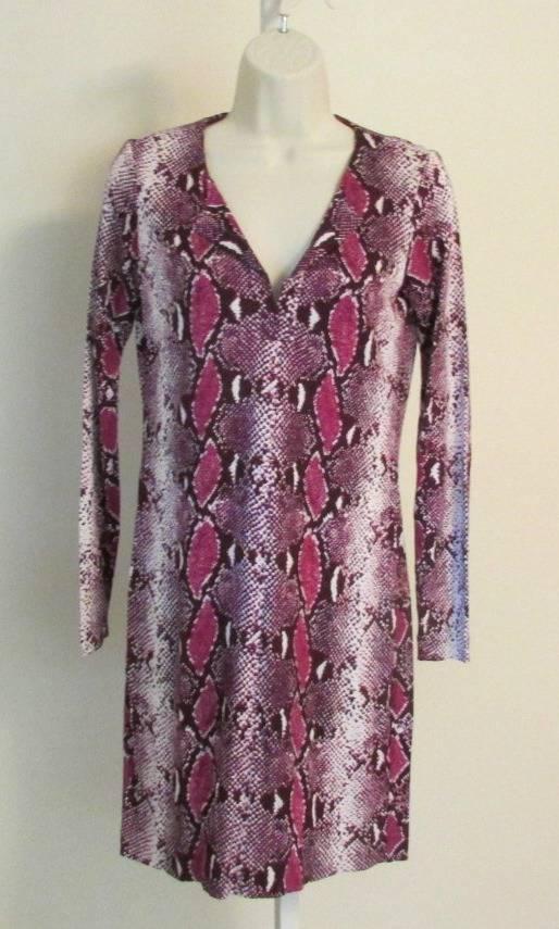 Diane von Furstenberg Reina Python Pop Rosa Thistle 10 tunic dress Pop lila