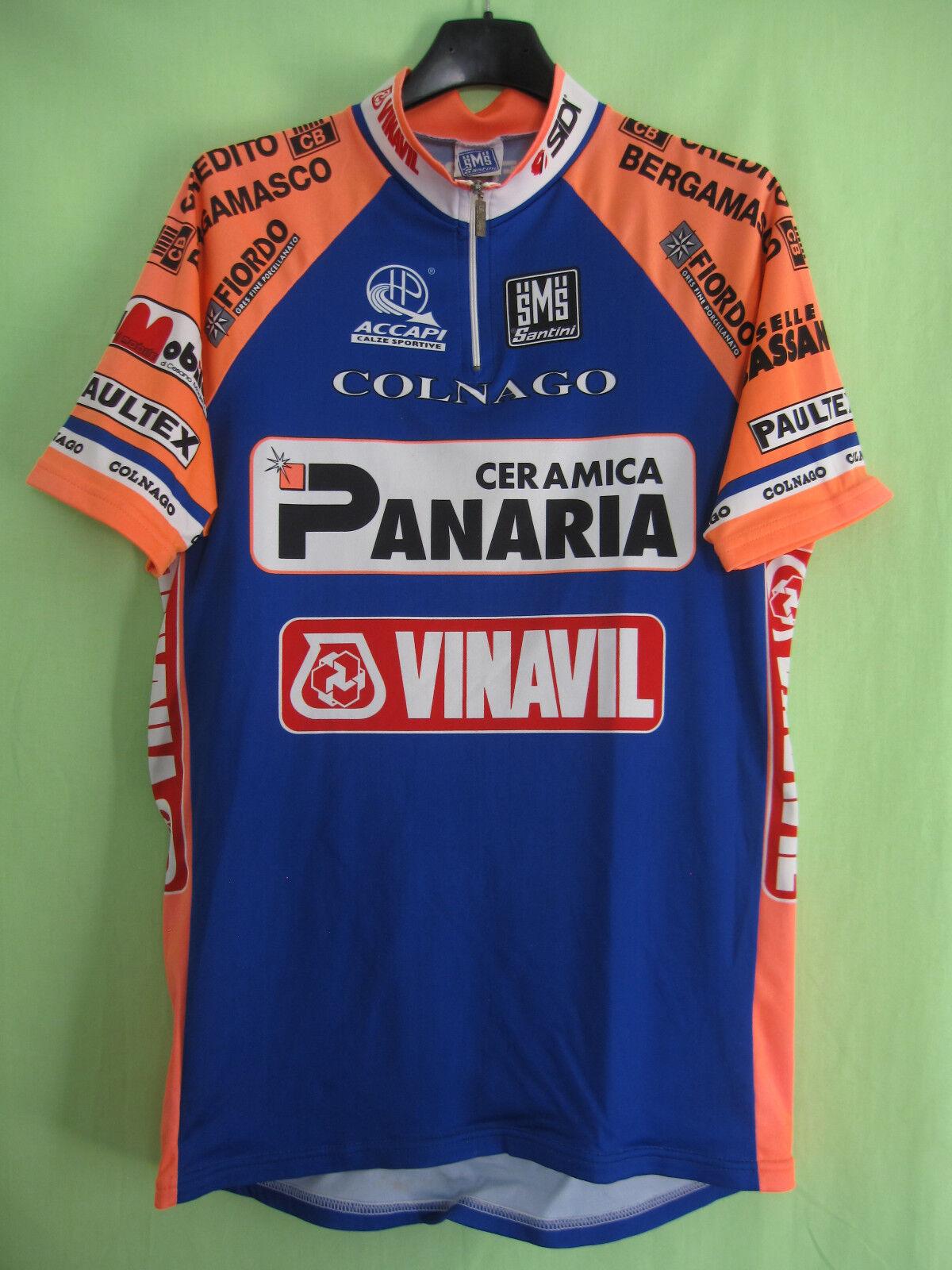 Maillot cycliste Panaria Vinavil Team 1996 Santini Colnago Jersey Vintage - XL