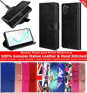 Case-Cover-For-Samsung-Galaxy-Note-10-amp-Note-10-Plus-5G-Genuine-Leather-Wallet