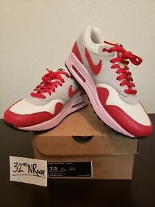 first rate amazon buy best Details about NIKE AIR MAX 1 VINTAGE SAIL/HYPR RD-STRT GRY-ICD CRMN  555284-103 WOMENS US 7.5