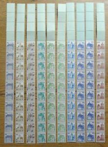 10-x-Bund-Rollenmarken-RE-10-4-Lf-postfrisch-Burgen-und-Schloesser-998-R-997