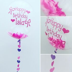 Image Is Loading Helium Filled Personalised Custom Bubble Balloon In A