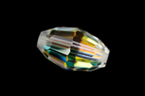 Swarovski 5200 7.5mm x 5mm Crystal AB Faceted Oval Beads 1 Pc, 24 Pcs, 360 Pcs