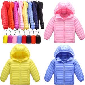 990c18479 Details about Kids Girls Boys Ultralight Puffa Hooded Duck Down Jacket Coat  Outerwear 3-10Y