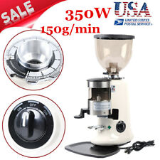 350w Black Commercial Electric Coffee Grinder Burr Mill Espresso Bean Home Grind
